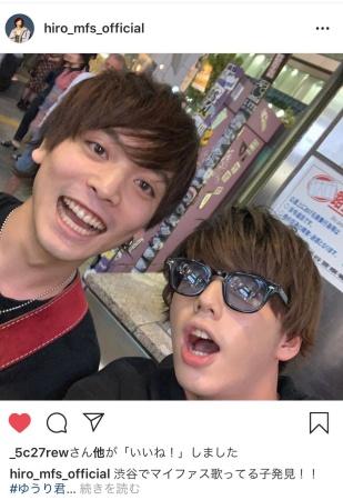 優里とマイファスHiroの路上ライブ画像