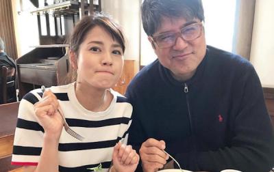 永島アナと父親の画像