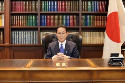 岸田文雄が総裁に選ばれた画像